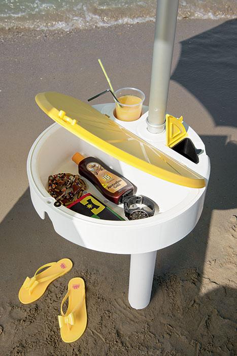 tavolino multifunzione per ombrellone